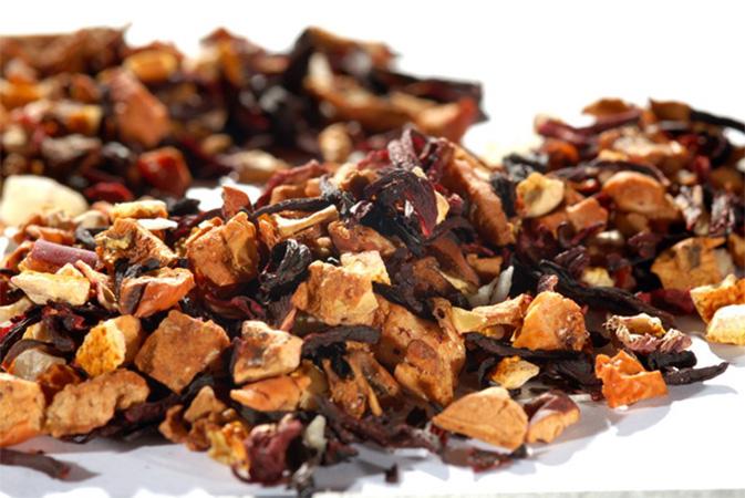 Punainen Piña Colada - hedelmähauduke - Runda Munken Teekauppa