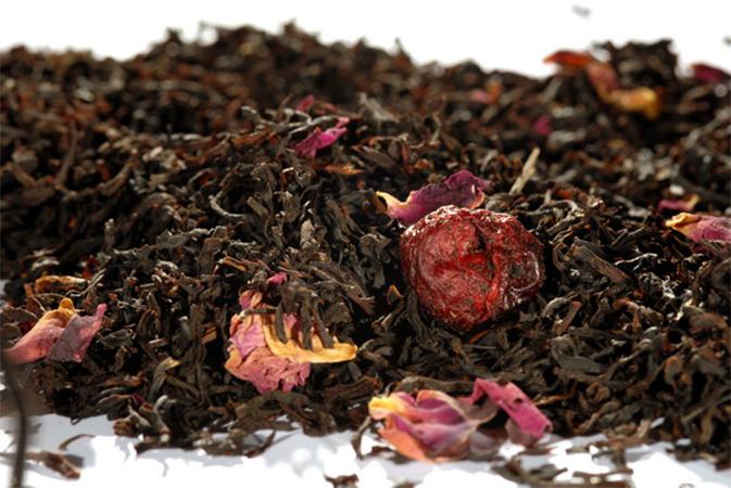 Wild Cherry - musta tee - maustettu tee - Runda Munken Teekauppa
