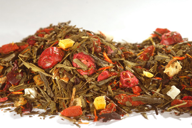 Yellow Tea Pomegranate Cranberry - keltainen tee - Runda Munken Teekauppa