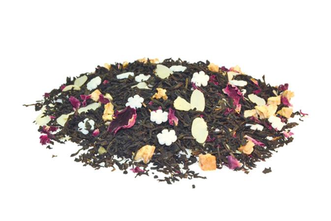 Snow Day - musta tee - maustettu tee - Runda Munken Teekauppa
