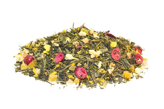 Cranberry loves Elderflower - vihreä tee - maustettu tee - Runda Munken Teekauppa