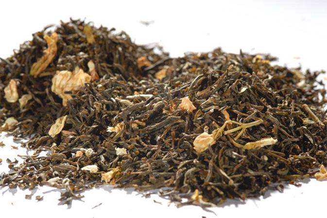 Jasmine Tea with Blossoms - vihreä tee - maustettu tee - Runda Munken Teekauppa