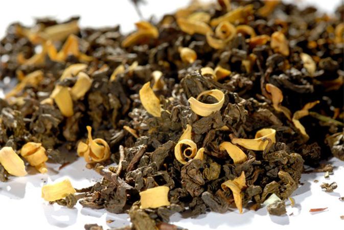 Orange Blossom Oolong - maustettu tee - Runda Munken Teekauppa