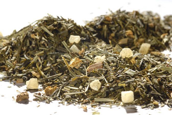 Pineapple Ginger Fresh - vihreä tee - maustettu tee - Runda Munken Teekauppa