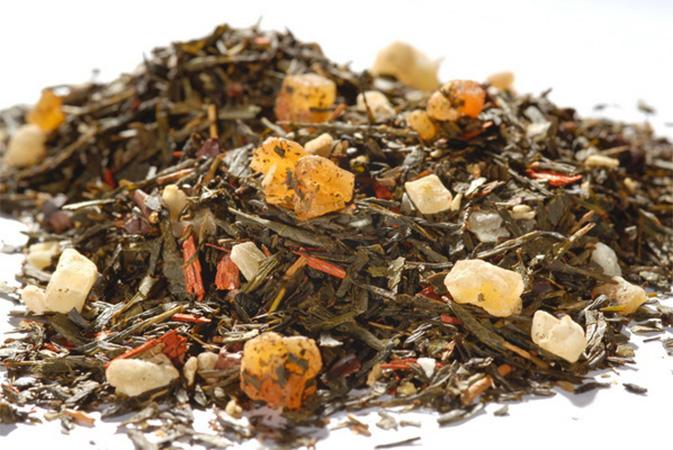 Scarlet Runner - vihreä tee - maustettu tee - Runda Munken Teekauppa
