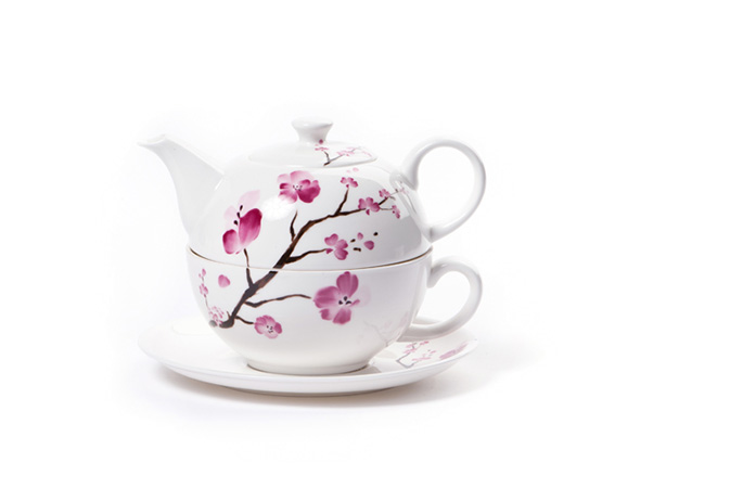 Cherry Blossom Tea for One - teetarvikkeet - Runda Munken Teekauppa