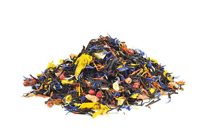 Springbreak - musta tee - maustettu tee - Runda Munken Teekauppa