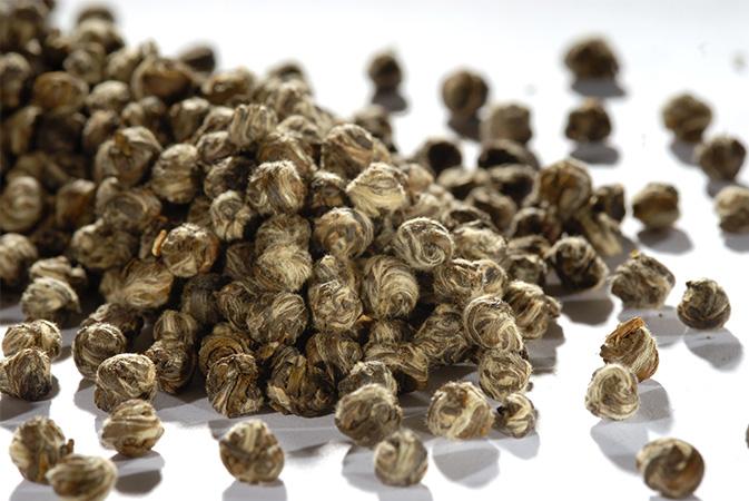 Jasmine Phoenix Pearls - vihreä tee - maustettu tee - Runda Munken Teekauppa
