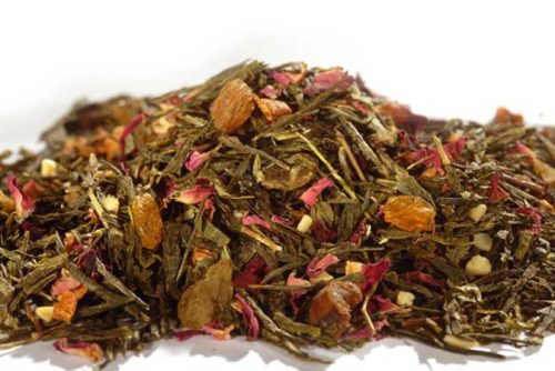 Sweet Winter Almond - vihreä tee - maustettu tee - Runda Munken Teekauppa