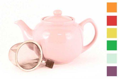 Värikäs teepannu 1,2 l, siivilä - Runda Munken Teekauppa